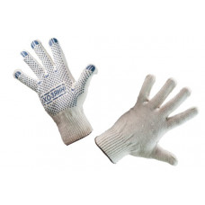 Перчатки х/б, ПВХ (Хозяин) белые