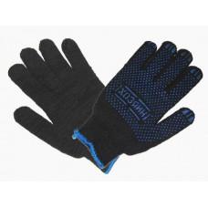 Перчатки х/б, ПВХ (Хозяин) черные