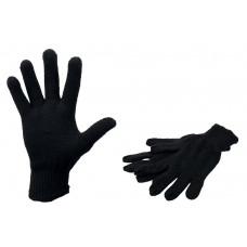 Перчатки х/б, уплотненные черные