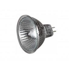 Лампа галогенная СВЕТОЗАР с защитным стеклом, аюм.отражатель, цоколь GU5.3, диаметр 51 мм, 20 Вт, 12 В