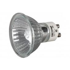 Лампа галогенная СВЕТОЗАР с защитным стеклом, аюм.отражатель, цоколь GU10, диаметр 51 мм, 50 Вт, 220 В