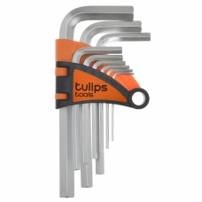 Ключи шестигранные 9шт Tulips, длинные  IK12-955