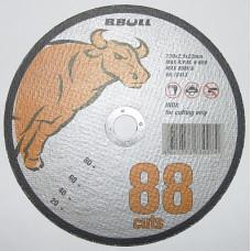 Круг отрезной по метал 230*2,5*22  B.Bull промышленный